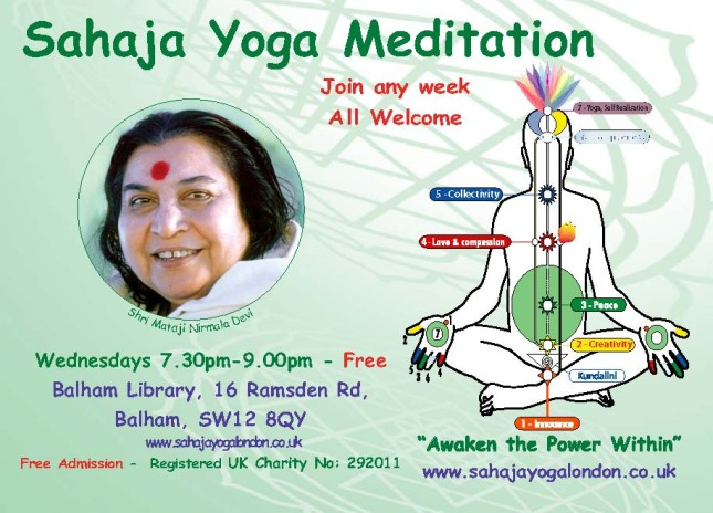 Achieve Yoga & Learn to Meditate in Balham @ 7.30pm on Wednesdays