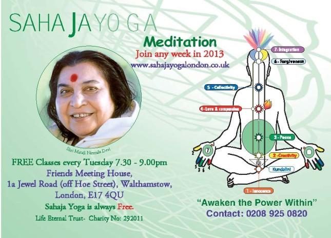 Walthamstow, E17 - Free Meditation & Yoga Class