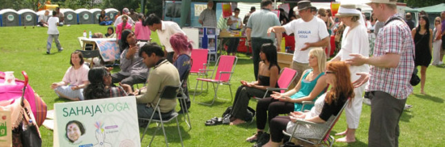 Sahaja Yoga at Strawberry Fair, Cambridge - Sat June 2nd 2012