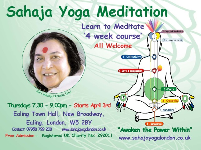 Free Meditation Course - starts April 3rd 2014
