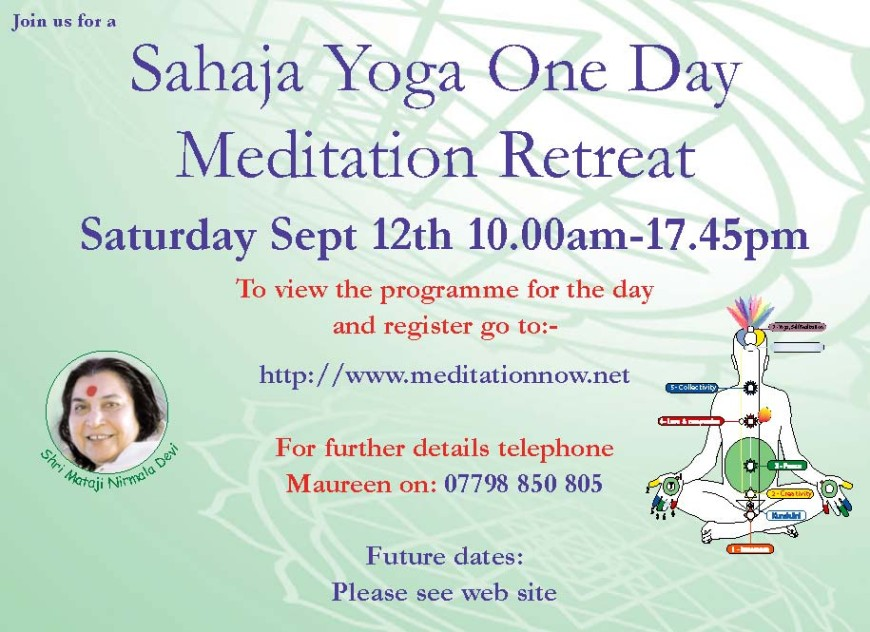 Meditation Retreat – September 12th