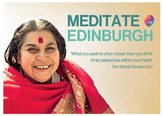 Music, Meditation, Tranquility & Peace – on April 21st @ 7.30pm – Edinburgh