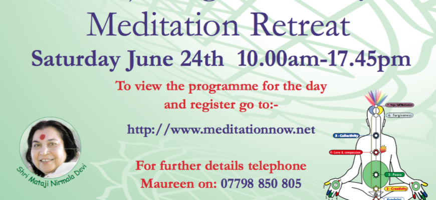 Meditation & Yoga Retreat – June 24th 2017