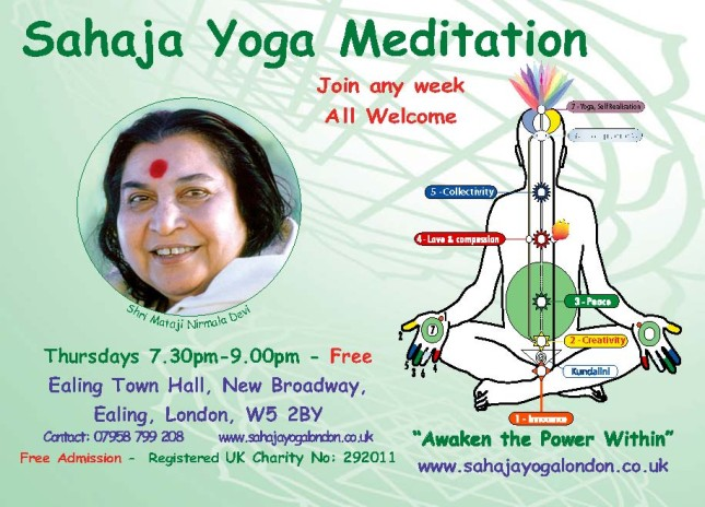 Achieve Yoga & Learn to Meditate @ Ealing Town Hall - 7.30pm - Thursdays