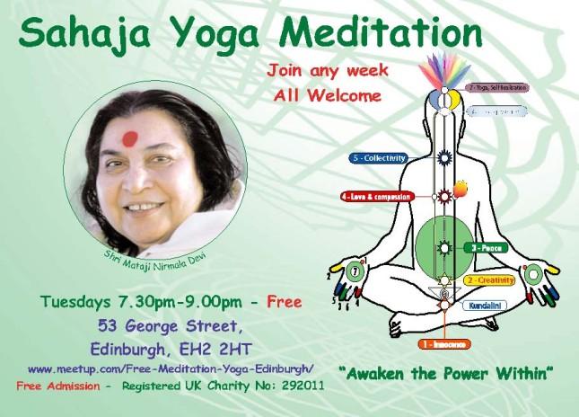 Free Meditation & Yoga Edinburgh 2014