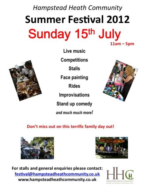 Hampstead Heath Festival - July 15 2012