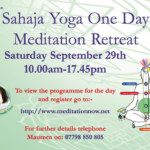 MEDITATION & YOGA Retreat Sept 29th 2018 -1
